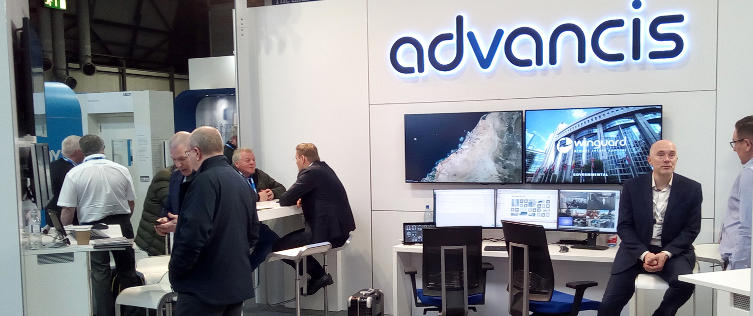 Advancis stand at the trade fair The Security Event in Birmingham